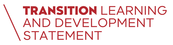 Transition Learning and Development Statement