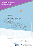thumbnail size of Sample VCAL Replacement Certificate